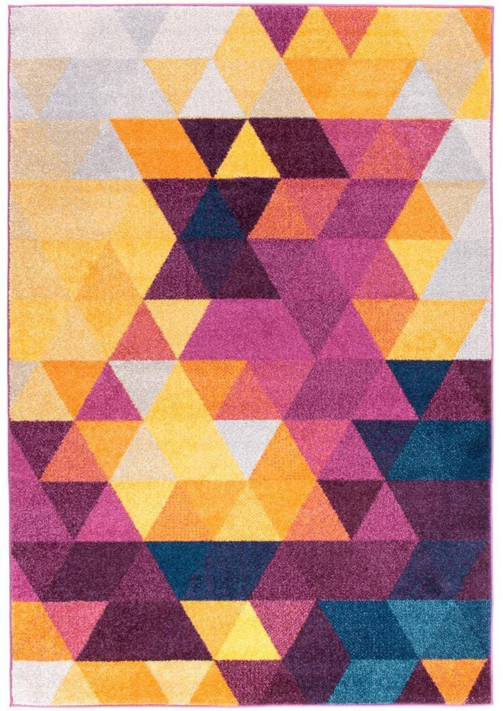 Dimensions Triangles in Multi (Available in Rug & Runner Rug)