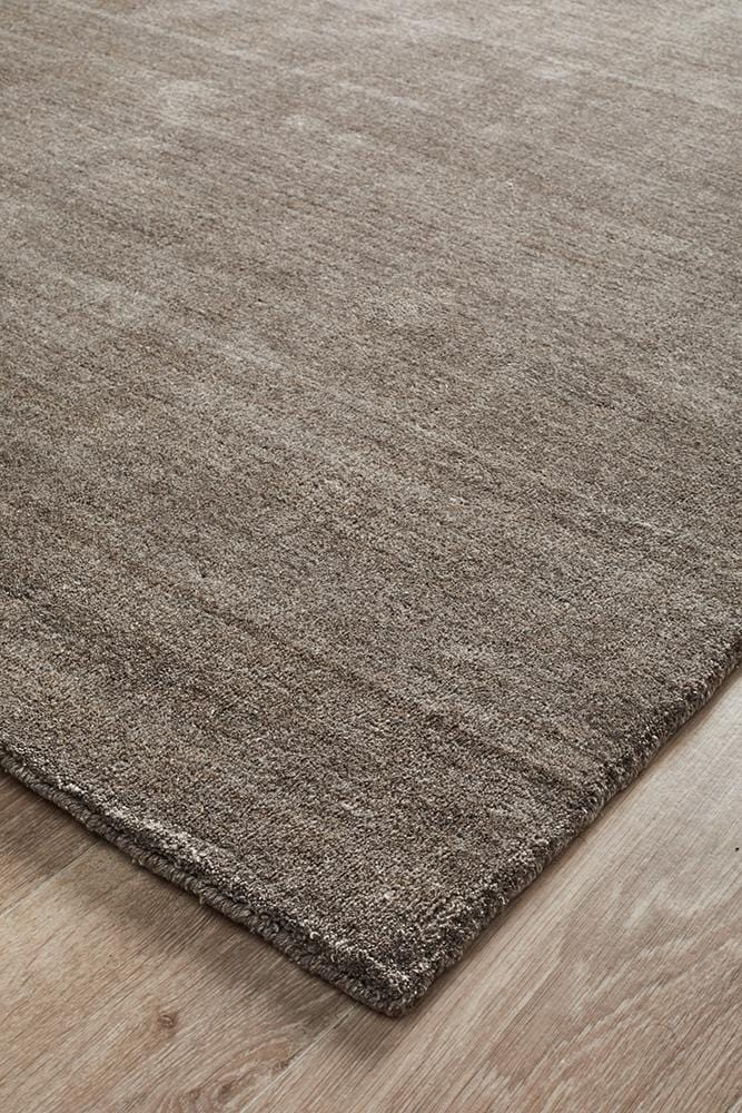 Havana Wool & Silky Viscose Dark Natural Rug - Cheapest Rugs Online