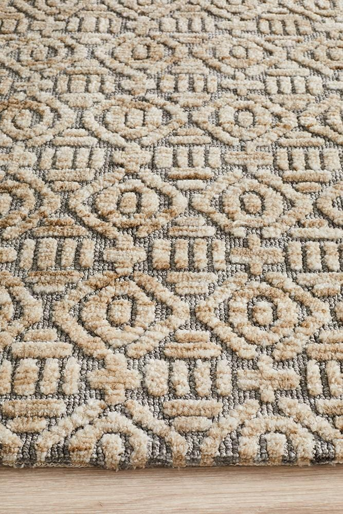Levi Earth in Natural - Cheapest Rugs Online
