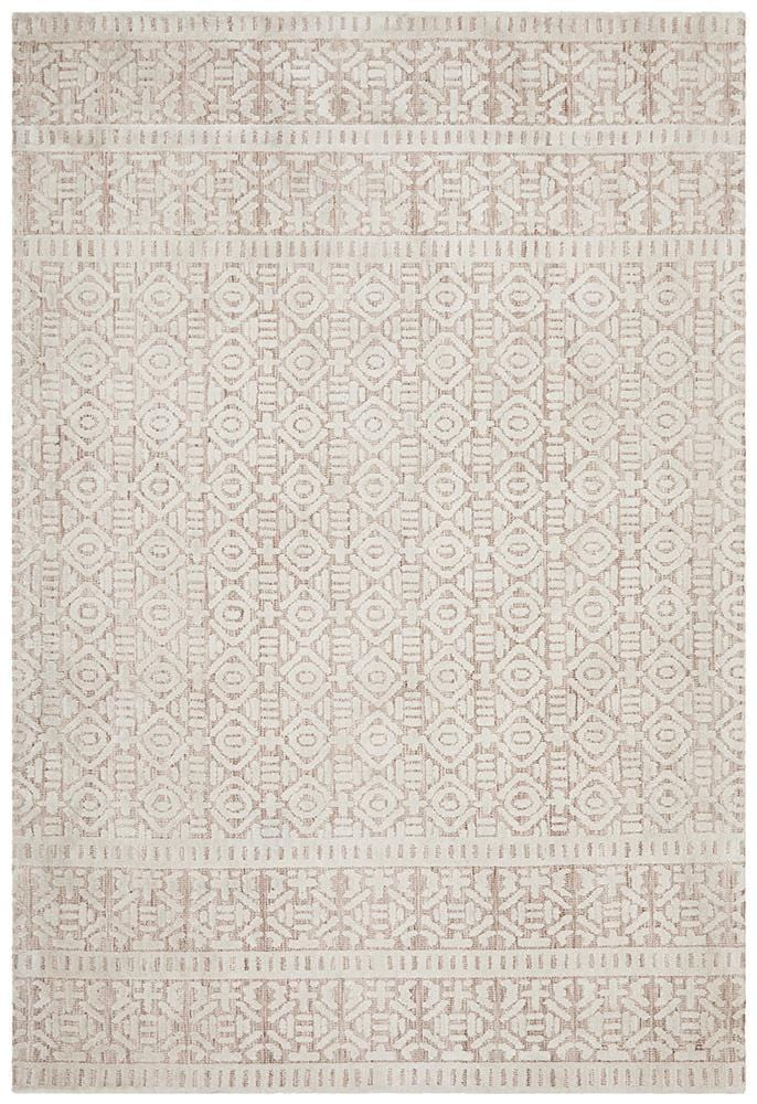 Levi Earth in Peach - Cheapest Rugs Online