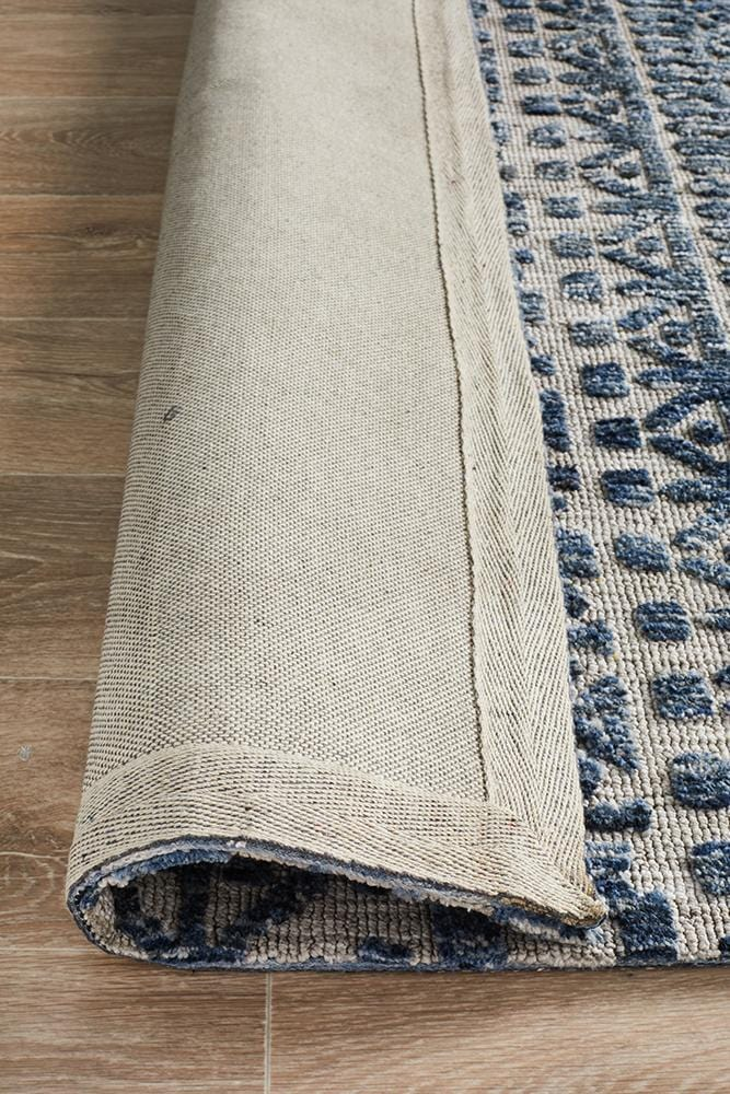 Levi in Charcoal & Dark Navy - Cheapest Rugs Online