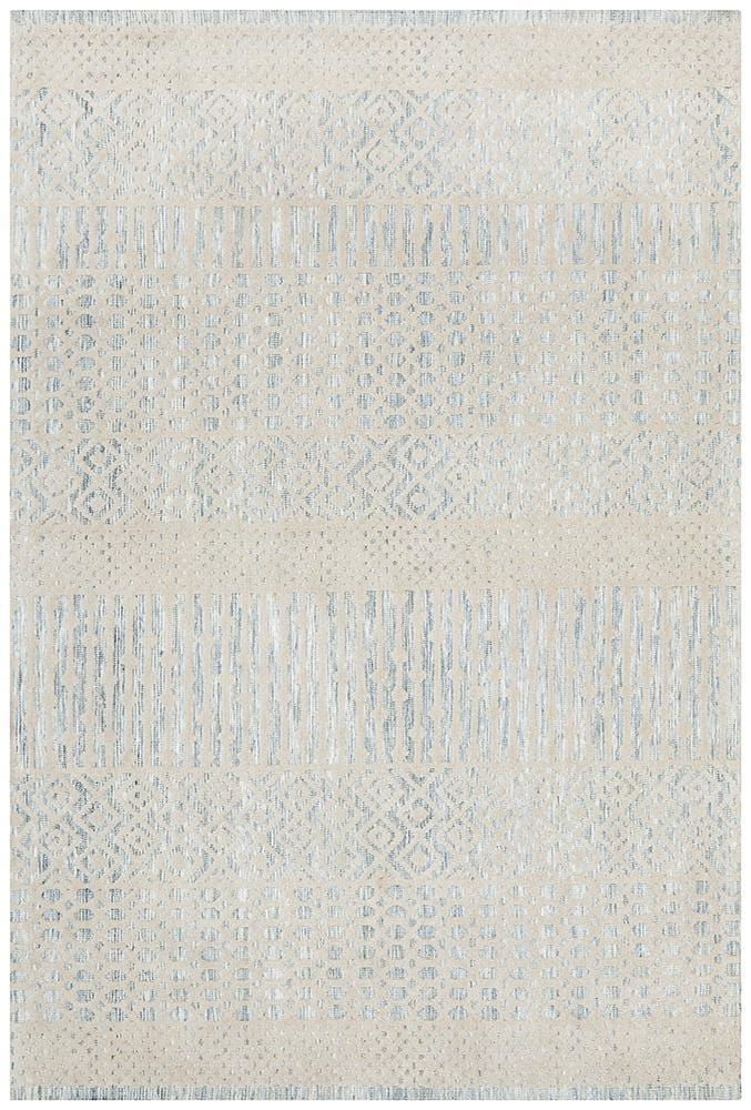 Levi Earth in Blue - Cheapest Rugs Online