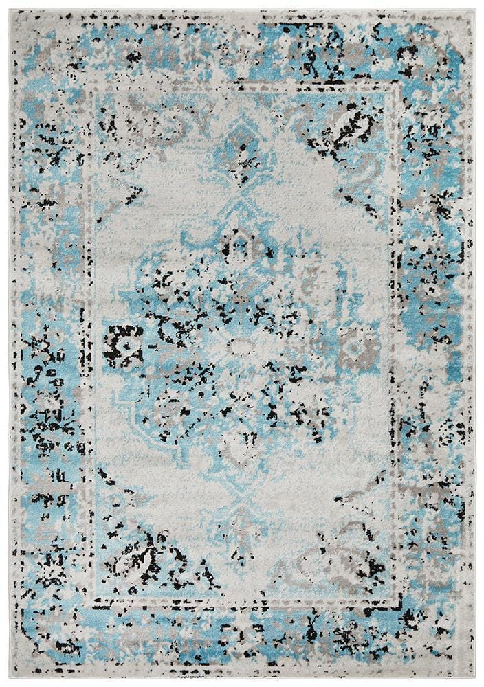 Alexa Transitional Rug Blue Grey - Cheapest Rugs Online