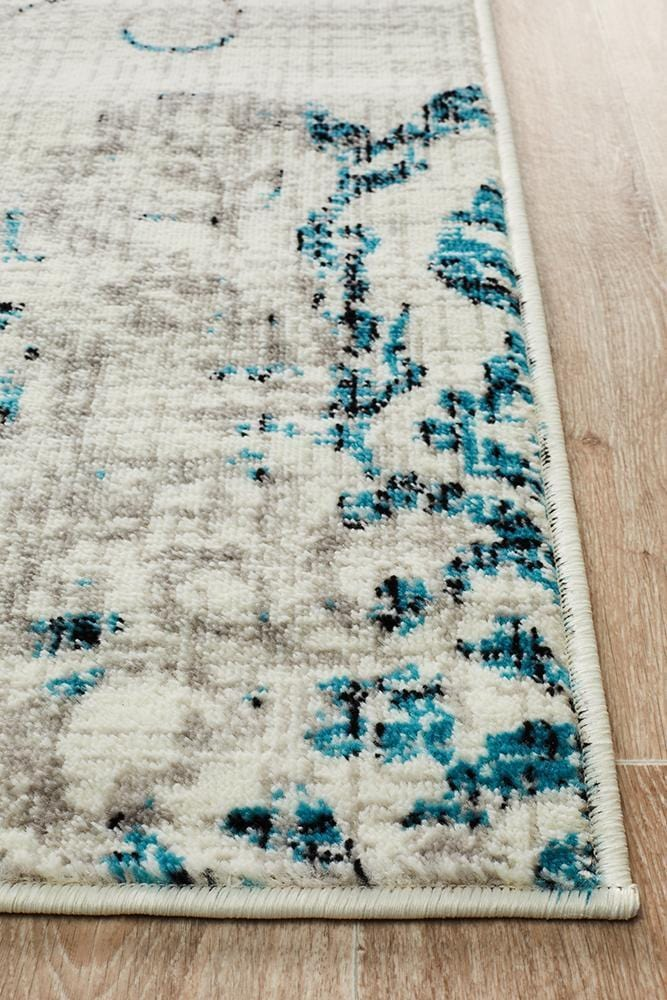 Giselle Transitional Rug Blue Grey - Cheapest Rugs Online