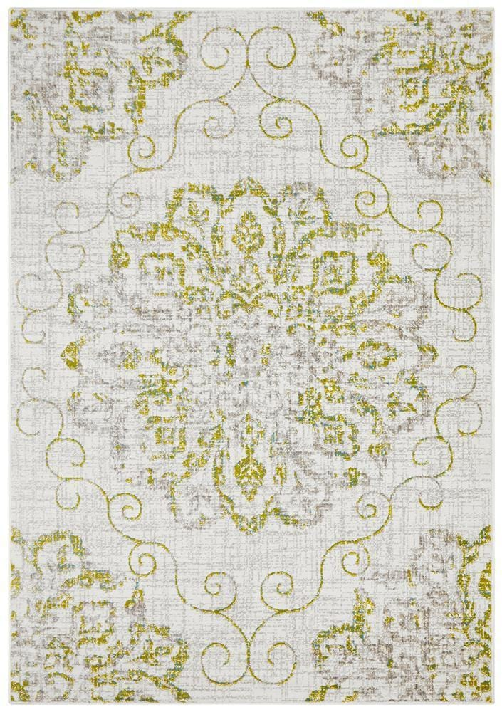 Giselle Transitional Rug Green Grey - Cheapest Rugs Online