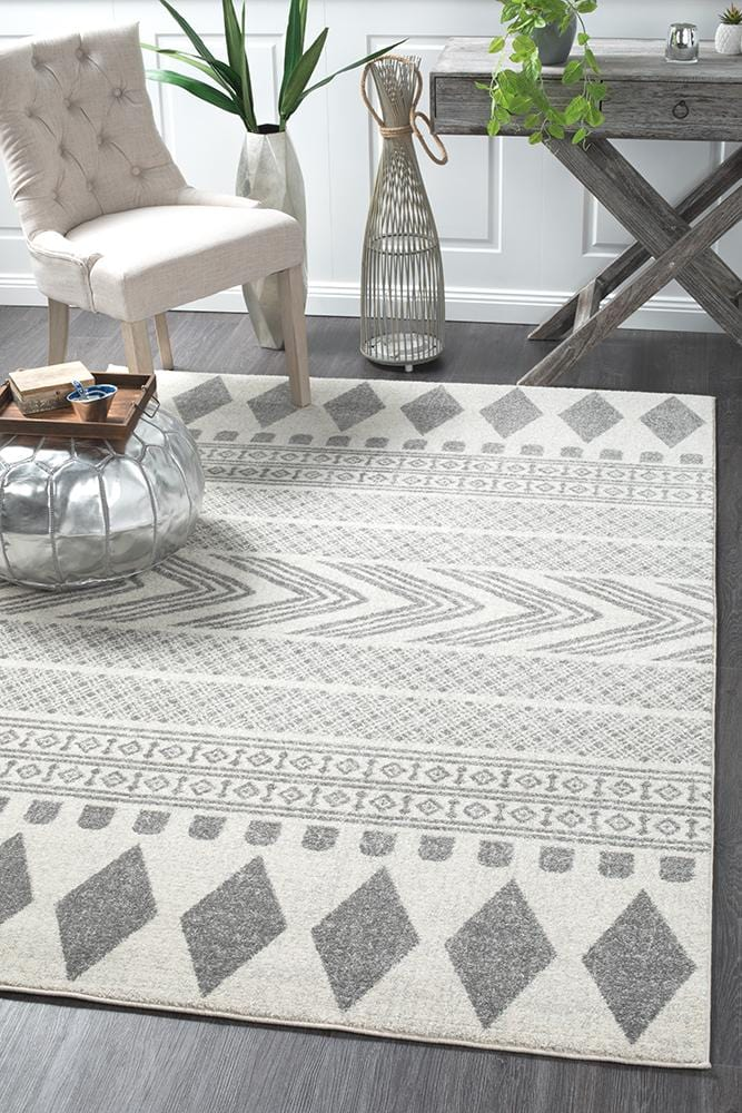 Mirage in Grey Tribal Rug
