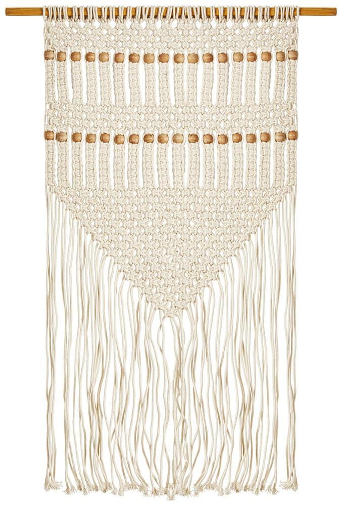 Natural Beaded Wall Hanging