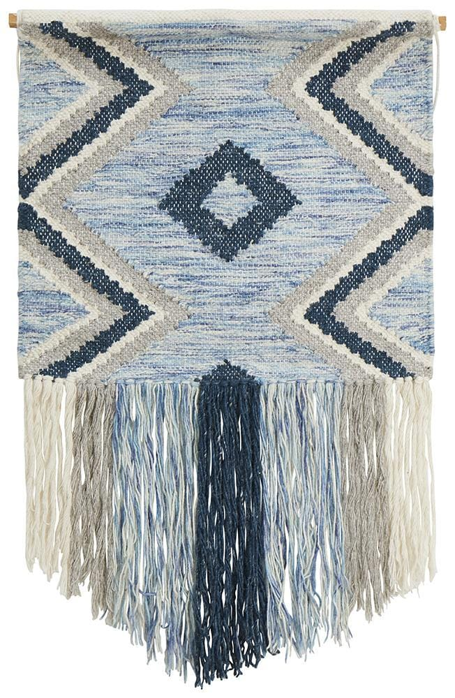 Blue Zag Wall Hanging