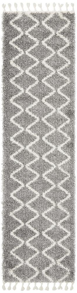Rocca Runner Rug No.11 in Silver