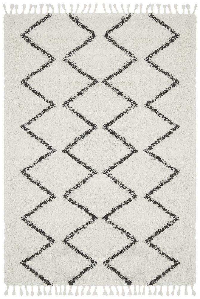 Rocca No.11 in White (Available in Rug & Runner Rug)
