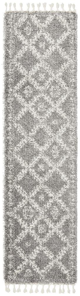 Rocca Runner Rug No.33 in Silver