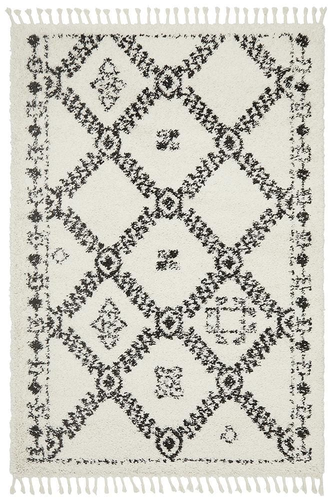 Rocca No.33 in White (Available in Rug & Runner Rug)