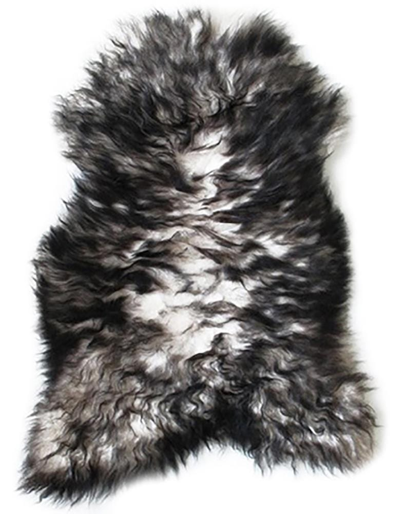 New Zealand Premium Sheepskin Nordic in White & Dark Grey