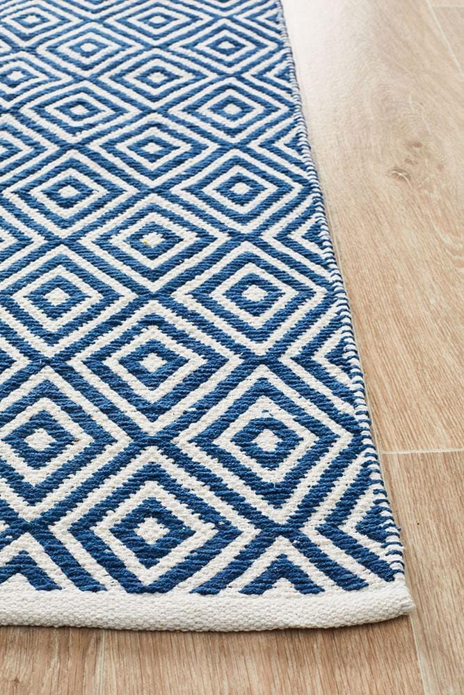 Spirit Diamond Navy Rug