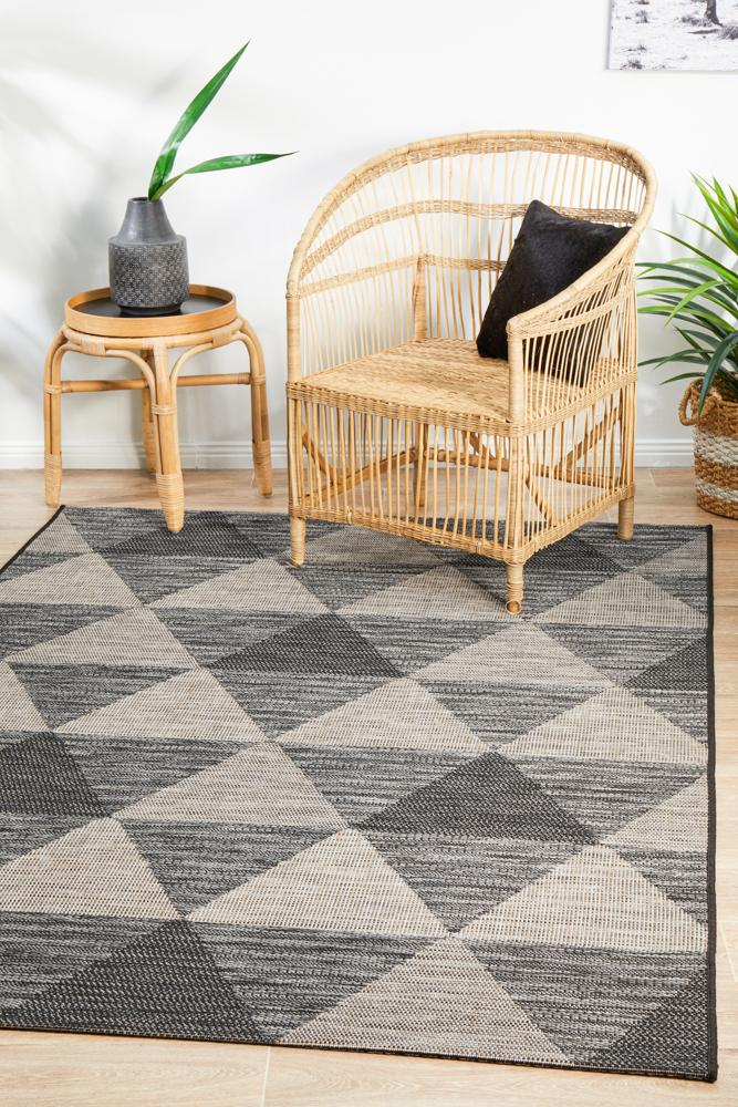 Terrain Outdoor No.3 in Black (Available in Rug & Runner Rug)
