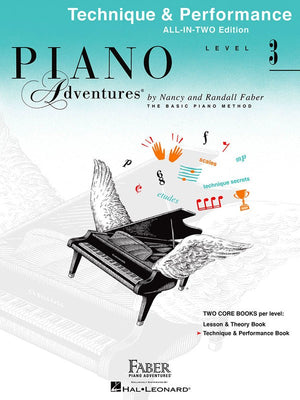 Piano Adventures All-In-Two Level 3 - Technique & Performance Book - Music Creators Online