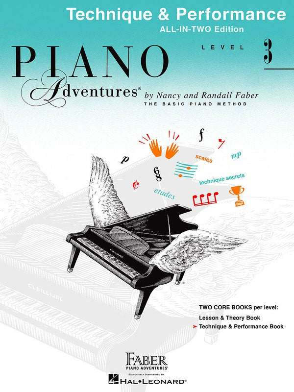Piano Adventures All-In-Two Level 3 - Technique & Performance Book