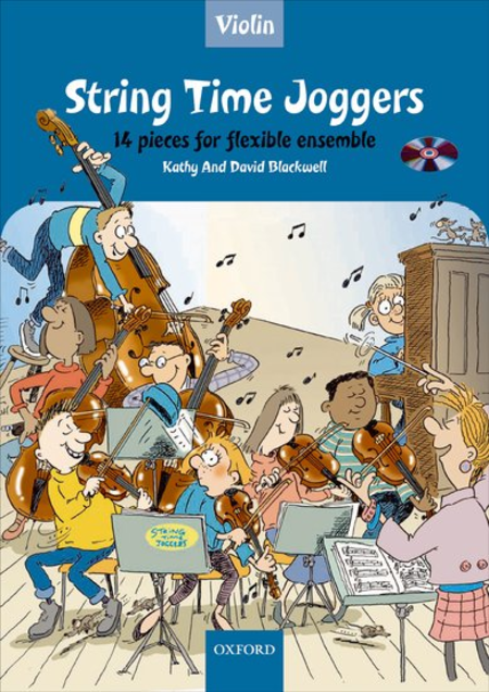 String Time Joggers Violin book + CD 14 pieces for flexible ensemble - Music Creators Online