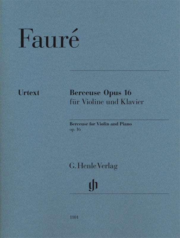 Berceuse for Violin and Piano Op. 16 - Music Creators Online