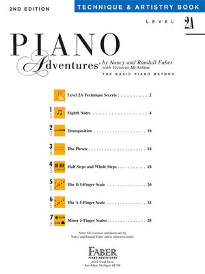Piano Adventures 2A- Technique & Artistry Book - Music Creators Online