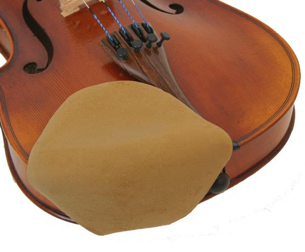 Chin Comforter- Strad Pad Beige Large Size Beige for Violin or Viola-  FACTORY SECOND - Music Creators Online