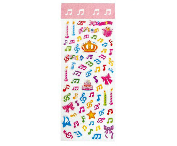 Stickers - Crystal Clefs & Notes