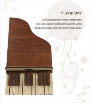Piano Handcrafted Wooden Phone Stand (Light Colour)