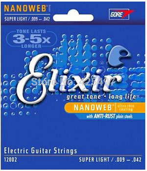 Elixir Electric Guitar Strings .009-.042 Super Light - 12002 (20% OFF) - Music Creators Online