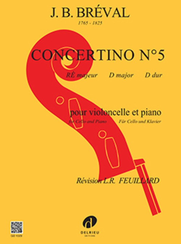 Breval Concertino No. 5 in D major for Cello and Piano - Music Creators Online