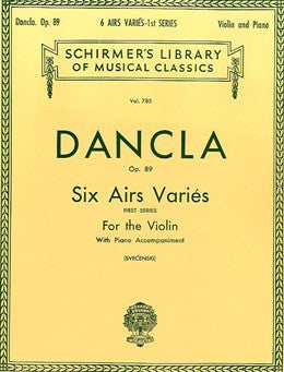Dancla Op.89 Six Airs Varies for Violin (First Series)