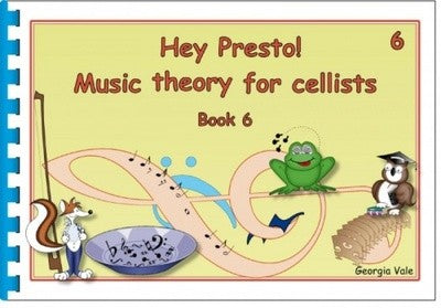 Hey Presto Music Theory for Cellists Book 6 - Music Creators Online