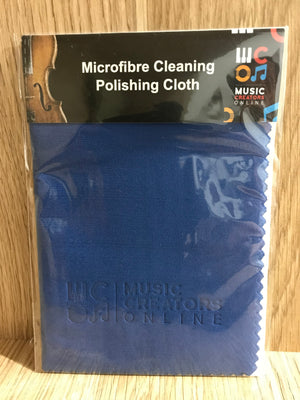 Microfibre Cleaning Polishing Cloth Blue - Music Creators Online