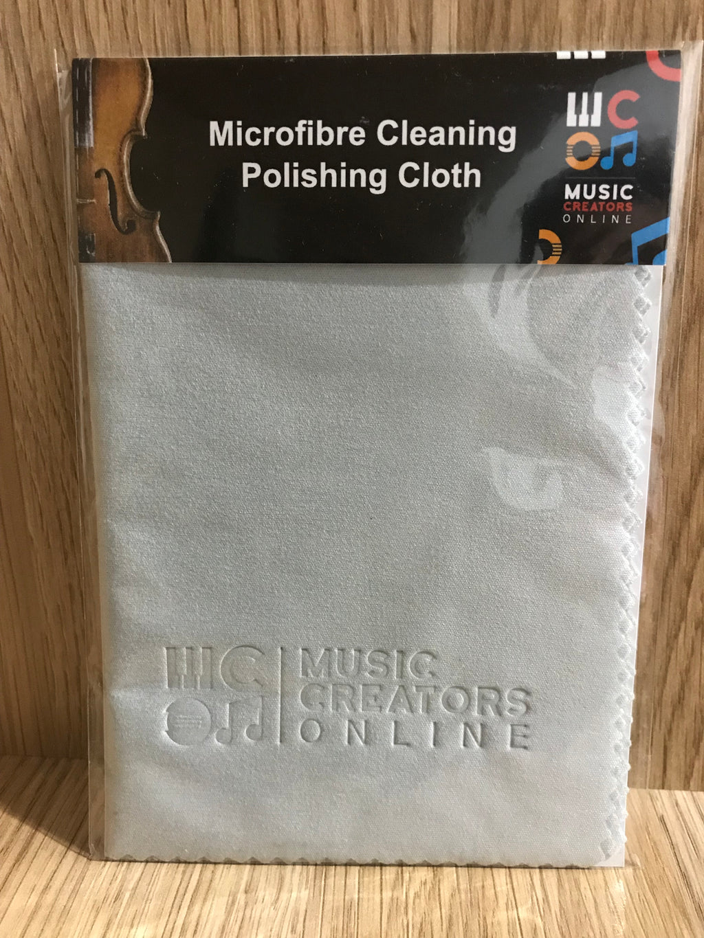 Microfibre Cleaning Polishing Cloth Light-Grey - Music Creators Online
