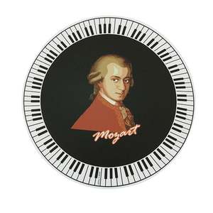 Mouse Pad- Mozart with a keyboard border