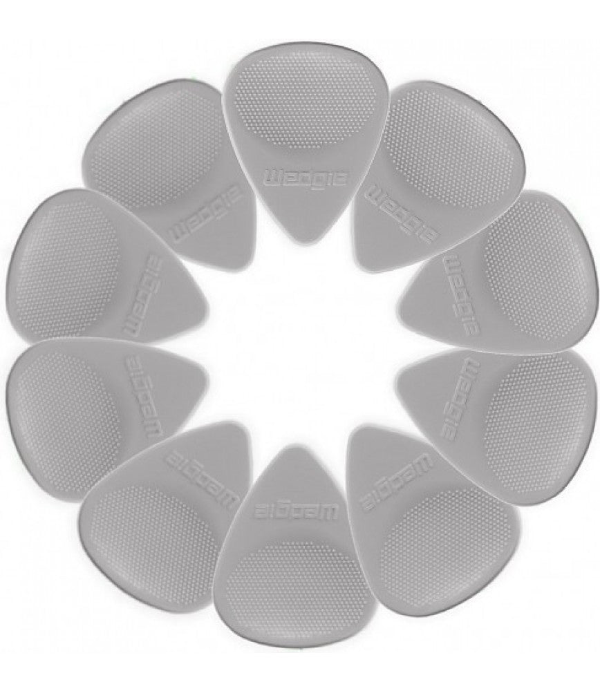 Wedgie Nylon Pick 12 Pack 0.60 Light Grey (20% OFF) - Music Creators Online