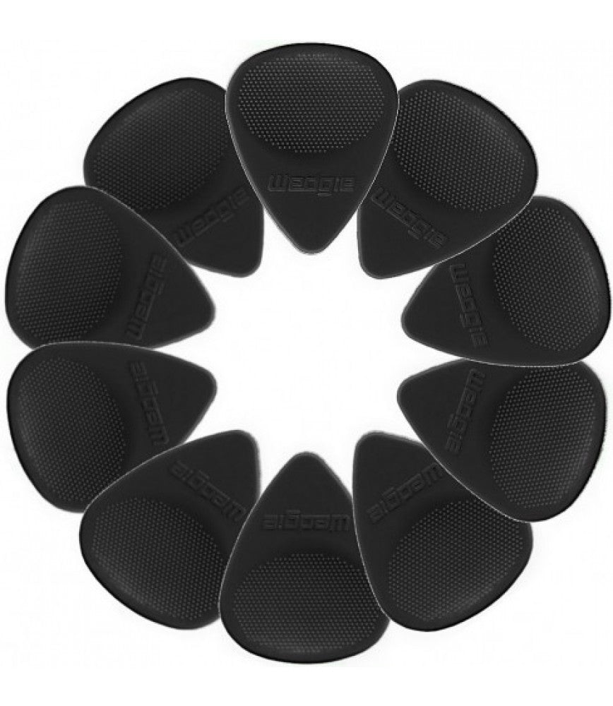 Wedgie Nylon Pick 12 Pack 1.00 Black (20% OFF) - Music Creators Online