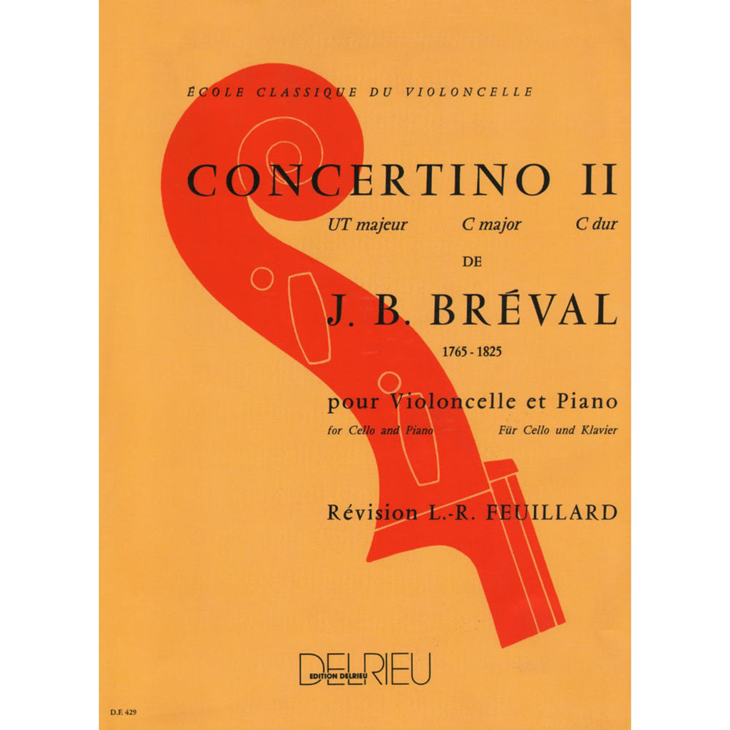 Breval Concertino No. 2 in C major for Cello and Piano - Music Creators Online