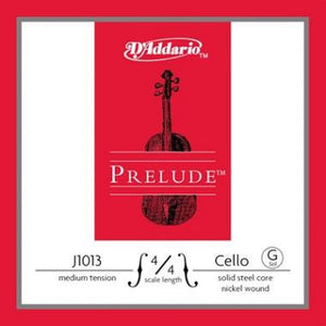 D'Addario Prelude Cello- Single G (Medium Tension) - Music Creators Online