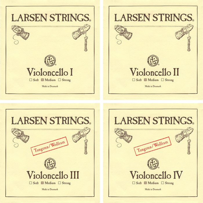 Larsen Cello String Set Medium 4/4