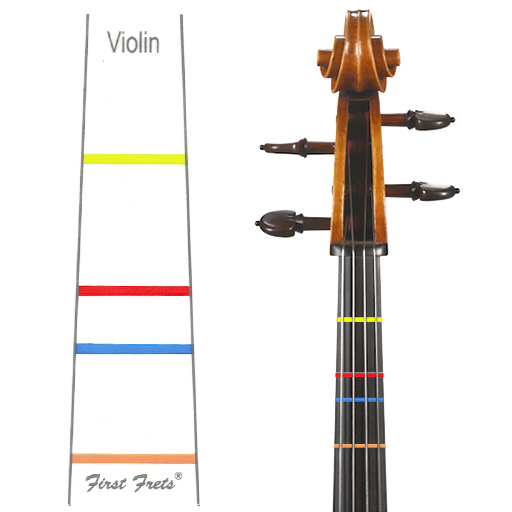 First Fret Violin-Position Stickers - Music Creators Online