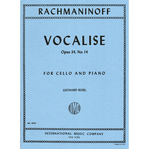 Cello Sheet Music Repertoire Tagged Composerrachmaninoff S