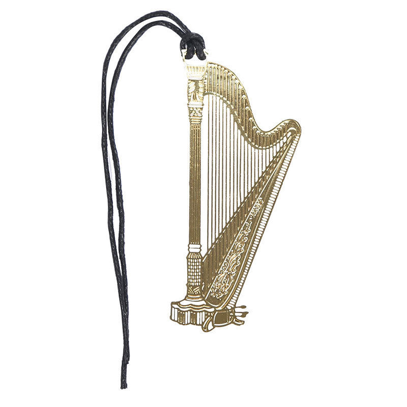 Bookmark- Harp Gold Plated Metal Stainless - Music Creators Online