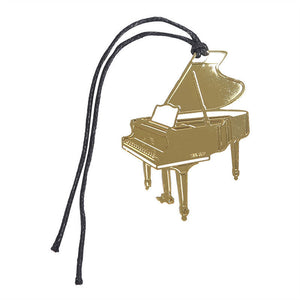 Bookmark- Grand Piano Gold Plated Metal Stainless