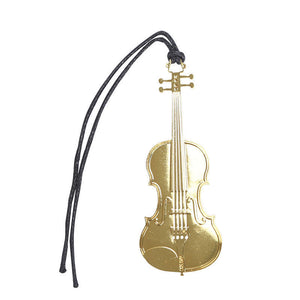 Bookmark- Violin Gold Plated Metal Stainless