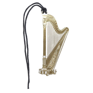 Bookmark- Harp Gold Plated Metal Stainless