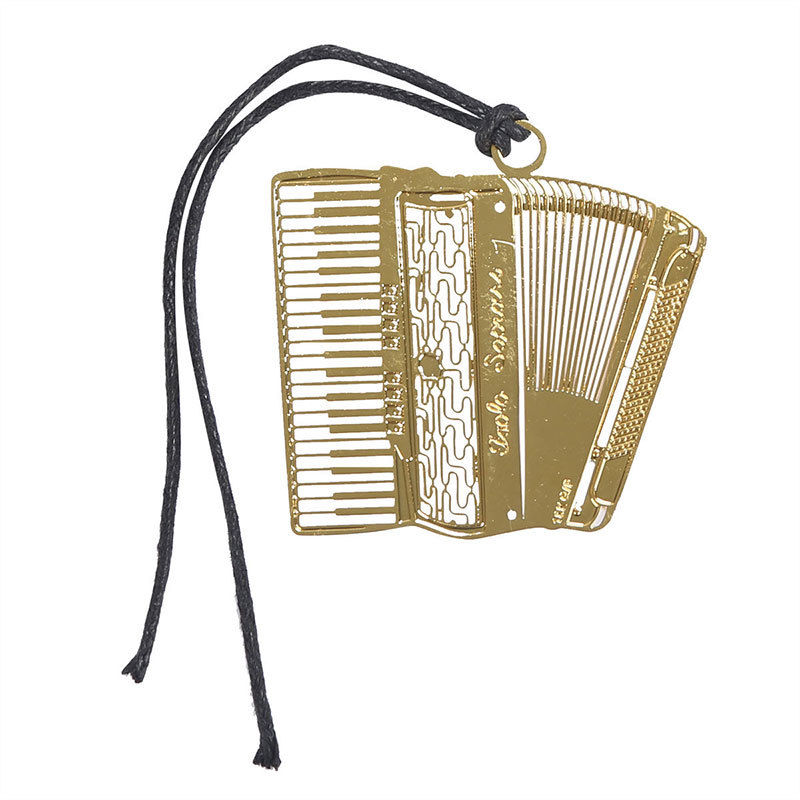 Bookmark- Accordion Gold Plated Metal Stainless - Music Creators Online