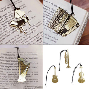 Bookmark- Guitar Gold Plated Metal Stainless - Music Creators Online