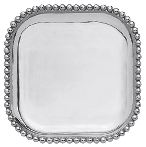 Pearled Square Platter-FREE ENGRAVING!