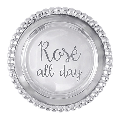 ROSE ALL DAY Beaded Wine Plate