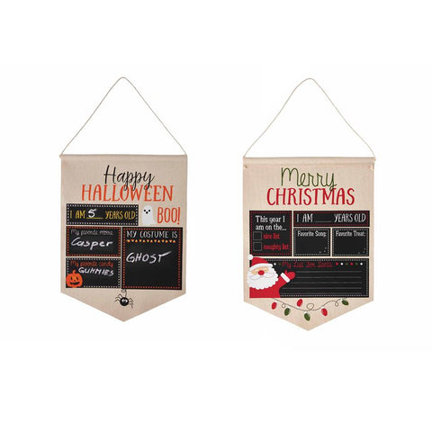 Halloween/Christmas Reversible Canvas Sign